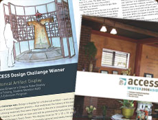 ASID Newsletter cover and page spread