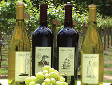 Wine labels for Skippers Creek, a Powhatan winery.